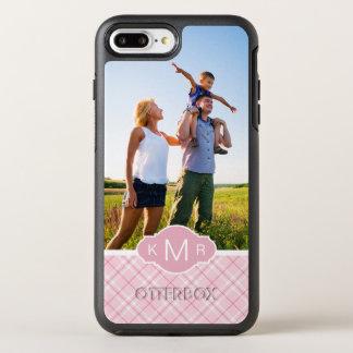 写真及びモノグラムの淡いピンクの格子縞 オッターボックスシンメトリーiPhone 8 PLUS/7 PLUSケース