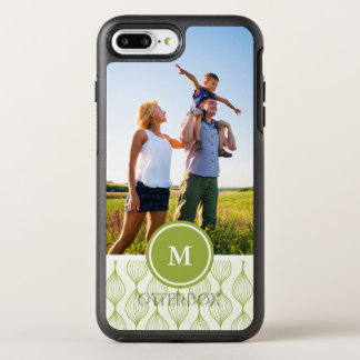 写真及びモノグラムの緑のOgeeパターン オッターボックスシンメトリーiPhone 8 Plus/7 Plusケース