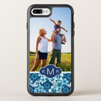 写真及びモノグラムの花のハイビスカスパターン オッターボックスシンメトリーiPhone 8 PLUS/7 PLUSケース