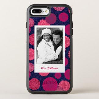 写真及び名前の円形の花模様 オッターボックスシンメトリーiPhone 8 PLUS/7 PLUSケース