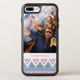 写真及び文字の種族のアズテック派の多彩なパターン オッターボックスシンメトリーiPhone 8 PLUS/7 PLUSケース