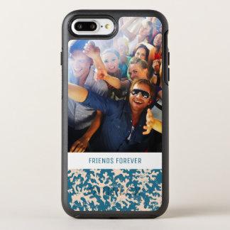 写真及び文字の美しい珊瑚パターン オッターボックスシンメトリーiPhone 8 PLUS/7 PLUSケース