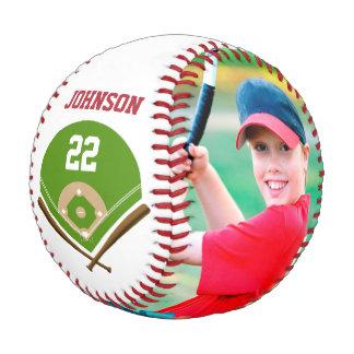 写真名前および数で野球を飾って下さい 野球ボール