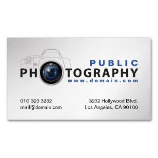 写真撮影のカメラマンのカメラレンズ マグネット名刺