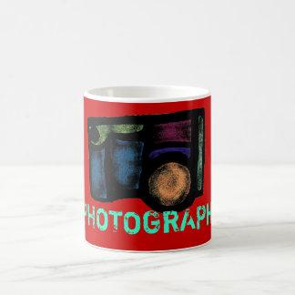 写真撮影のカメラ コーヒーマグカップ