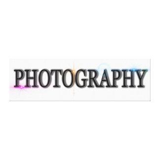 写真撮影のデジタル芸術の執筆アイコンロゴのキャンバス キャンバスプリント