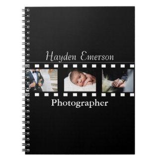 写真撮影のフィルムのこまのカメラマンの写真 ノートブック