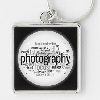 写真撮影の専門語白黒Keychain キーホルダー