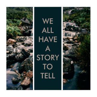 写真撮影の滝の石 + あなたのアイディア トリプティカ
