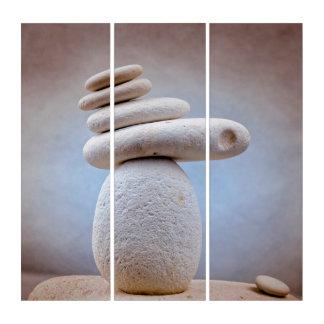 写真撮影-バランスをとる石 + あなたのアイディア トリプティカ