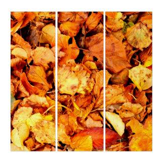 写真撮影-乾燥した紅葉 + あなたのアイディア トリプティカ