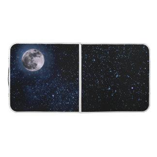 写真撮影-満月が付いている夜空 + あなたのアイディア ビアポンテーブル