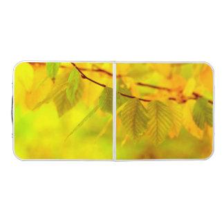 写真撮影-秋のブナの葉 + あなたのアイディア ビアポンテーブル