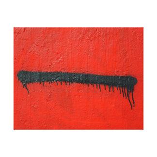 写真芸術の上の抽象的で粋な落書きの終わり キャンバスプリント