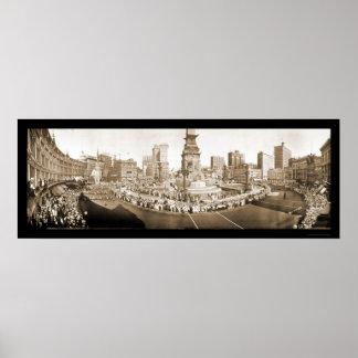 写真1918年のパレードインディアナポリス ポスター