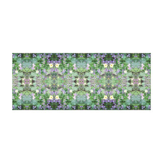 写真772の花のフラクタルA及びBの鏡のパネル キャンバスプリント