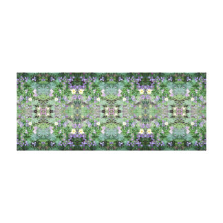 写真772の花のフラクタルA及びBの鏡2のパネル キャンバスプリント