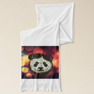 《写真》ぼけ味のスタイルのアジアのパンダくま スカーフ