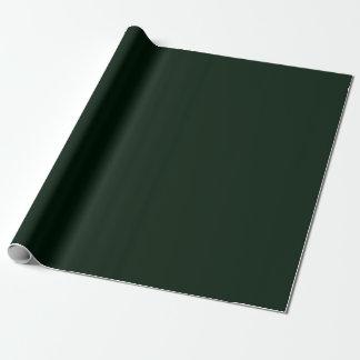 《写真》ぼけ味のNavidadの深い深緑色 ラッピングペーパー