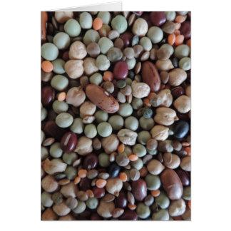 写真、カラフルな混合された豆を播きます カード