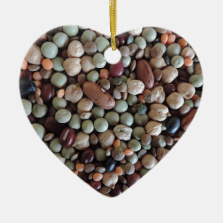 写真、カラフルな混合された豆を播きます セラミックオーナメント
