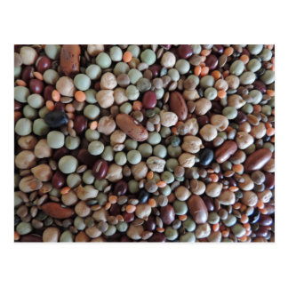 写真、カラフルな混合された豆を播きます ポストカード
