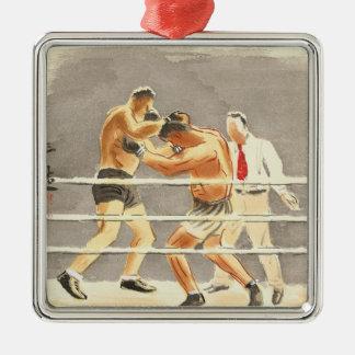 写真、ボクサーの日本のな職業 メタルオーナメント