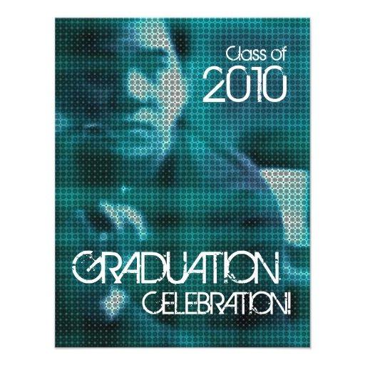 写真 挿入物 卒業 パーティ 1 招待 オリジナル案内状