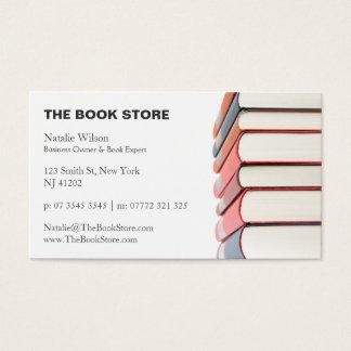 写真、本の積み重ね-書店-名刺 名刺