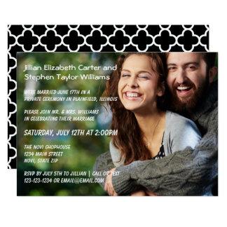 写真-結婚式の発表 12.7 X 17.8 インビテーションカード