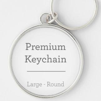 写真Keychainのあたりでカスタマイズ シルバーカラー丸型キーホルダー