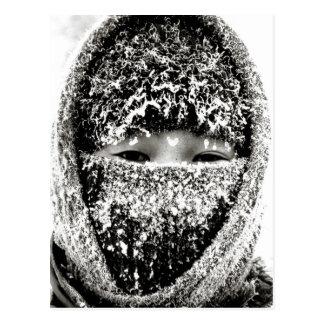 冬に暖かい保つこと ポストカード