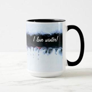 冬のつらら- I愛冬 マグカップ