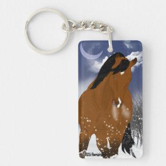 冬のアラビア人の馬 キーホルダー