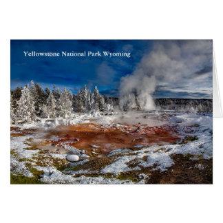 冬のイエローストーン国立公園ワイオミング カード