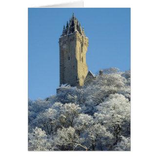 冬のウォーレス記念碑スターリングスコットランド カード