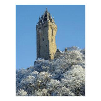 冬のウォーレス記念碑スターリングスコットランド ポストカード