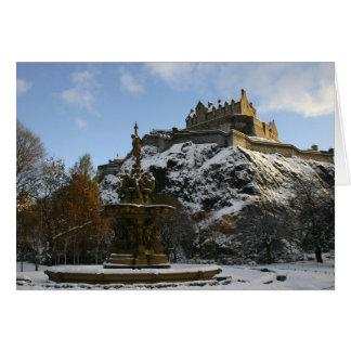 冬のエジンバラの城 カード