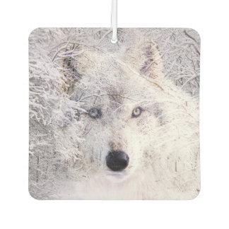 冬のオオカミ カーエアーフレッシュナー