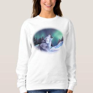 冬のオオカミ スウェットシャツ