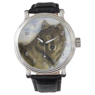 冬のオオカミ 腕時計