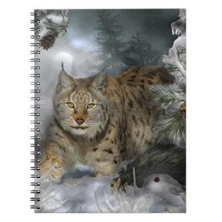 冬のオオヤマネコ ノートブック