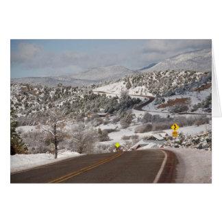 冬のカーソンの美しい国有林 カード