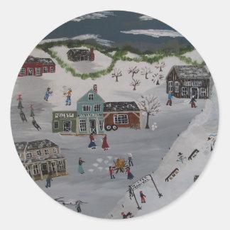 冬のカーニバル ラウンドシール