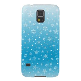 冬のクリスマスのSnowyのデザイン Galaxy S5 ケース