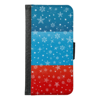冬のクリスマスのSnowyのデザイン Galaxy S6 ウォレットケース