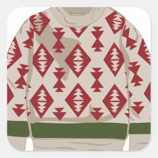 冬のセーター スクエアシール