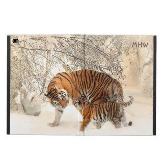 冬のトラのカスタムなモノグラム装置ケース POWIS iPad AIR 2 ケース
