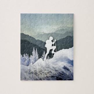 冬のハイキング ジグソーパズル