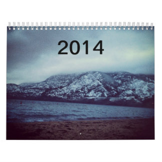 冬のビーチの2014年のクリスマスのカレンダー カレンダー